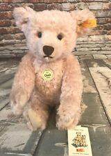 Steiff Original German Classic Teddybär 1907 Pink Pale Rose Jointed Mohair Bear
