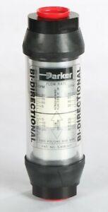 New 411105 Parker Bi-Directional Flow Meter