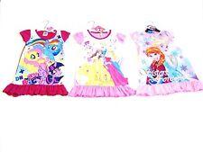 Girls Frozen Princess My Little Pony Childrens Kids Nightie Nightdress Pjs 2-8