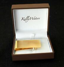 NIB Kelly Waters money clip in brush gold finish FREE US SHIPPING