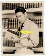 RICHARD ARLEN ORIGINAL 8X10 PHOTO 1930's HOLDING BOOK IN THIS LIBRARY
