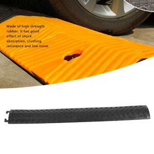 3pcs Rubber Speed Bump Modular Rubber Guard Cover Cable Protectors Hose Ramp Set