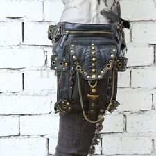Steam Punk Rock Leather Leg Waist Bag Handbag Belt Shoulder Chest Fanny Pack