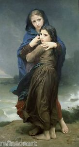 Adolphe-William Bouguereau The Storm Giclee Canvas Print