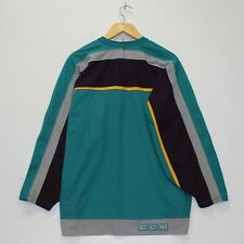 Vintage Anaheim Mighty Ducks CCM NHL Blank Hockey Jersey Mens Size Large Custom