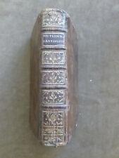 (MONCHABLON).DICTIONNAIRE ABREGE D'ANTIQUITES...Auteurs grecs & latins. SAILLANT