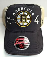 BOBBY ORR SIGNATURE SERIES W/ NAME-NUMBER BOSTON BRUINS SNAP BACK ZEPHYR HAT/CAP