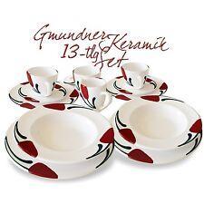 Gmundner Keramik SET Emotion Gourmet Becher u. Teller