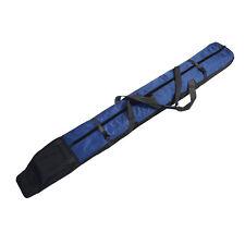 FULLY PADDED SINGLE SKI BAG W/WHEELS - BLUE