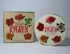 "Rare Vintage 1940's RYGREN ""Piel de Durazno"" Powder Box Not Sealed w/Box"