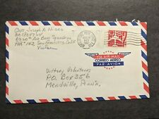 APO 143 GIESSEN, GERMANY 1962 Army Cover 6220th Air Base Sqdn Officer's Mail