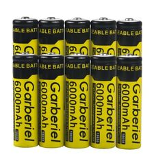 10 x 6000mAh Li-ion 18650 3.7V Cell Rechargeable Battery For LED Flashlight