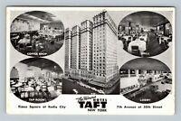 Hotel Taft, Times Square Roxy Theater, Advertising Chrome New York City Postcard