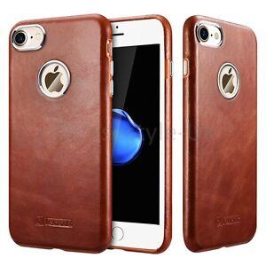 "For iPhone 7+""Plus"" 6+""Plus"" Genuine Real Leather Back Case Premium Luxury Cover"