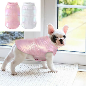 Winter Dog Coats for Small Dogs Waterproof Puppy Vest Jacket for French Bulldog