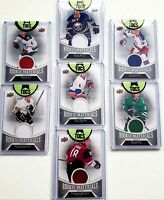 2016-17 Upper Deck Series Two Rookie Materials Lot (7 Cards) CLEARANCE No Dupes
