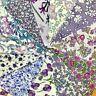 "Lovely Rare Vintage Liberty of London Tana Lawn 4"" Squares #15 Lilacs"