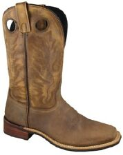 NEW! Smoky Mountain Boots - Men's Western Cowboy - Leather Brown Crackle Square