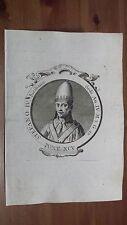 1775 Effigie/Ritratto di Papa Stefano III o IV Siciliano Pontefice (Siracusa)