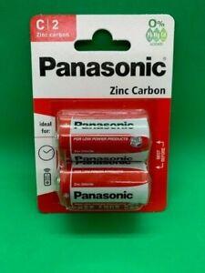 PANASONIC SIZE C ZINC CARBON BATTERIES R14 1.5V MN1400, MX1400 LONGEST EXPIRY