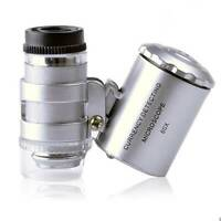 60X LED Light Magnifying Loupe Jewelry Jewelers Pocket Magnifier Loop Eye Glass