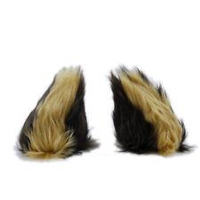 PAWSTAR NECOMIMI Ear SLEEVES ONLY - Wolf Cub cosplay Dog Fox Brown [BR/BU]3079