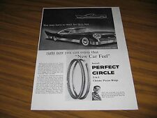 1957 Print Ad Perfect Circle Piston Rings Futuristic Car by Raymond Jordan