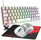 Wired Gaming Keyboard and Mouse Combo RGB Backlit 60% Mechanical 6400 DPI For PC