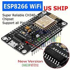 NEW NodeMcu Lua ESP8266 CH340G ESP-12E Wireless WIFI Internet Development Board