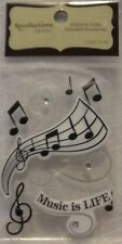CRYSTAL EMBOSSED MUSIC NOTE STICKERS