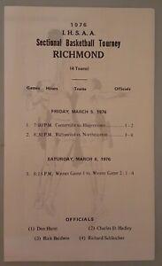 1976 Indiana High School Sectional Basketball Tournament