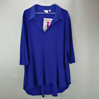 Women with Control Crepe Jersey Knit Tunic & Pants  Electric Blue M   A299542