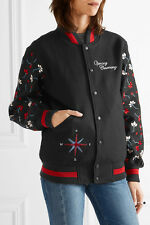 NWT Opening Ceremony Embroidered Wool Blend Varsity Bomber Jacket Size Large