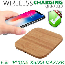 Hot Ultra-thin Wood Qi Wireless Charger Mat Charging Pad For Iphone XS/XS Max/XR