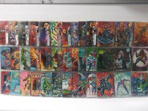 Marvel Masterpieces 1992 Trading Cards COMPLETE BASE SET #1-100 Joe Jusko