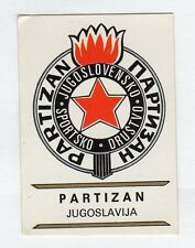 figurina PANINI FOOTBALL CLUBS NUMERO 165 PARTIZAN