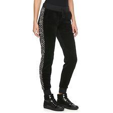 Juicy Couture Womens  Leopard Velour Jogger Pants Sz S