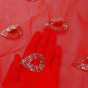 Indian Women Dupatta Vintage Net Chunari Leaf Embroidered Red Shawl EMBDP6103
