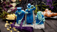 Disneyland Haunted Mansion 50th Anniversary Set Phineas Ezra Gus Popcorn Buckets