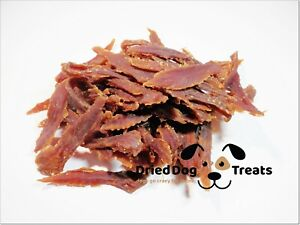 [1kg] Dried 98% Duck Chewable Breast Strips - chews, treats, snacks