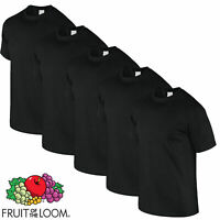 3, 5 PACK 100% COTTON T-SHIRT Fruit of the Loom ICONIC Soft Fashion Fit TEE