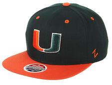 "MIAMI HURRICANES ""THE U"" NCAA Z11 ADJUSTABLE 2-TONE SNAPBACK ZEPHYR CAP HAT NEW!"
