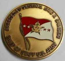 "Chief of Staff U.S. Army 4 Star General Eric K. Shinseki 1.75"" Challenge Coin"