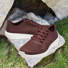 NWT CROCS LiteRide Pacer Men's Sneakers Burgundy/White Size US 12 / EU 46-47
