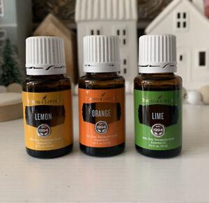 Young Living Orange, Lemon & Lime Essential Oil -Large Bottle 15 ml New & Sealed
