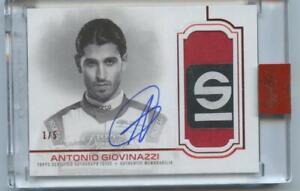 2020 Topps Dynasty Formula 1 ANTONIO GIOVINAZZI Patch Auto RED #1/5 PF