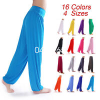Women Bloomers Dance Yoga TaiChi Full Length Pants Smooth Antistatic Trousers