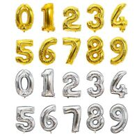 "32"" 40"" Giant Foil Number Balloons letter Air Helium Birthday Party Wedding new"