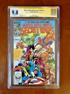 Secret Wars #1 CGC 9.8 White Pgs SS 3X Signed By Zeck, Beatty, Shooter - Marvel
