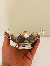 Antique Signed Persian Islamic Qajar Pahlavi Middle Eastern Solid Silver Bowl